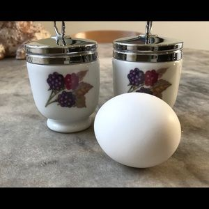 Pair of egg coddlers - Royal Worcester
